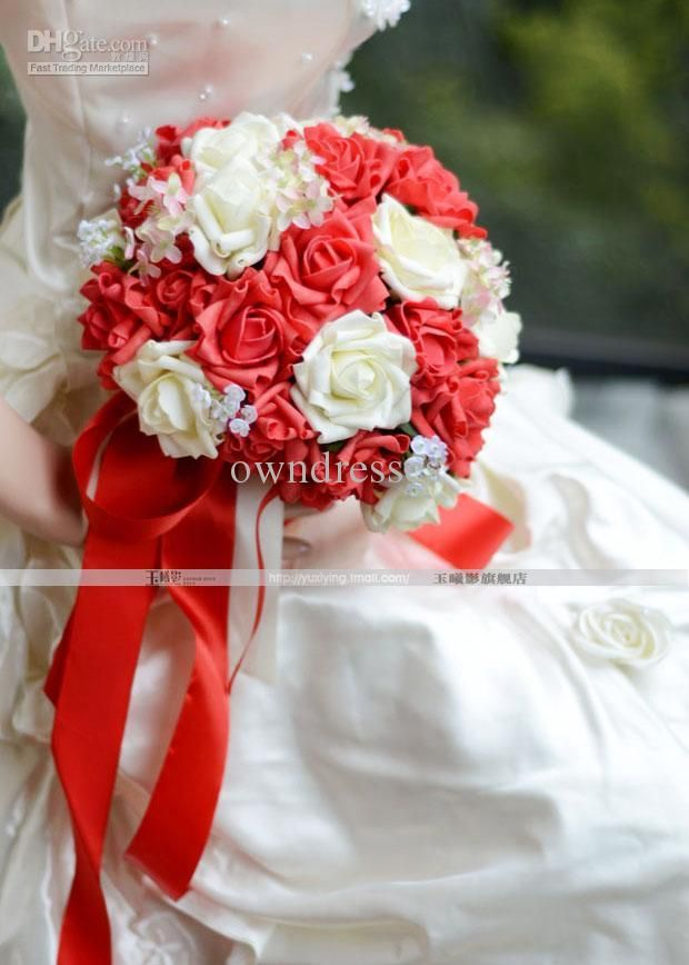 Prom bouquets for red dresses