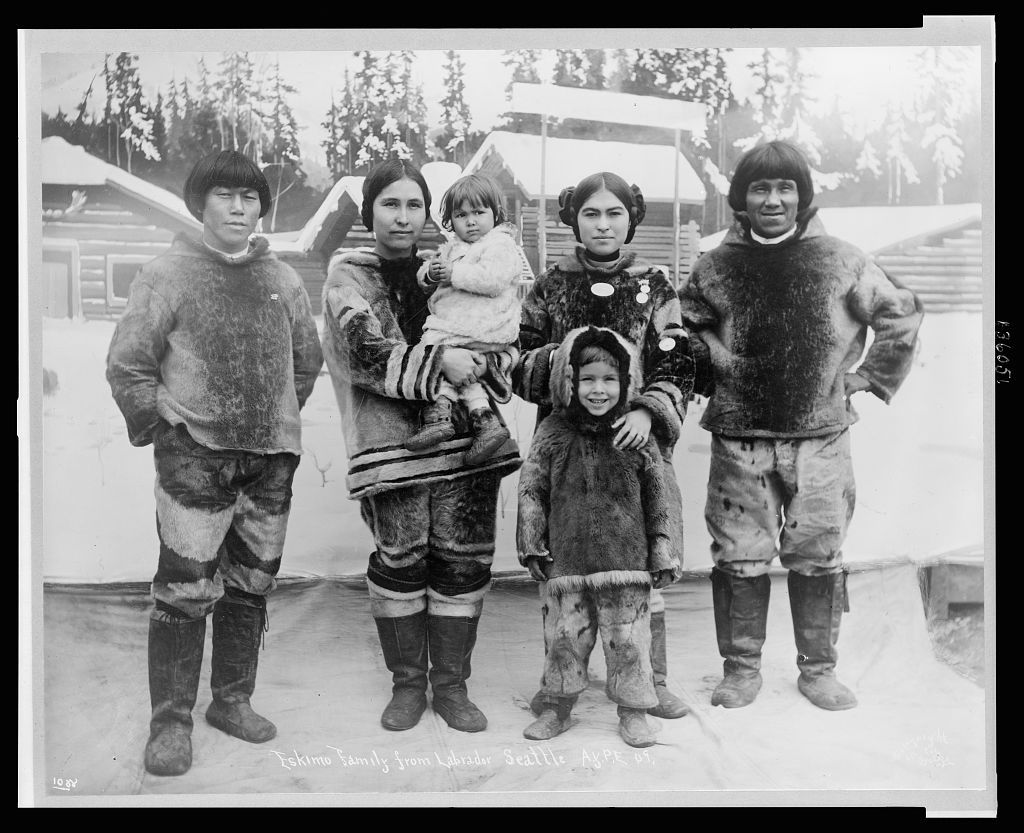 eskimo family from labrador photograph shows two inuit couples and