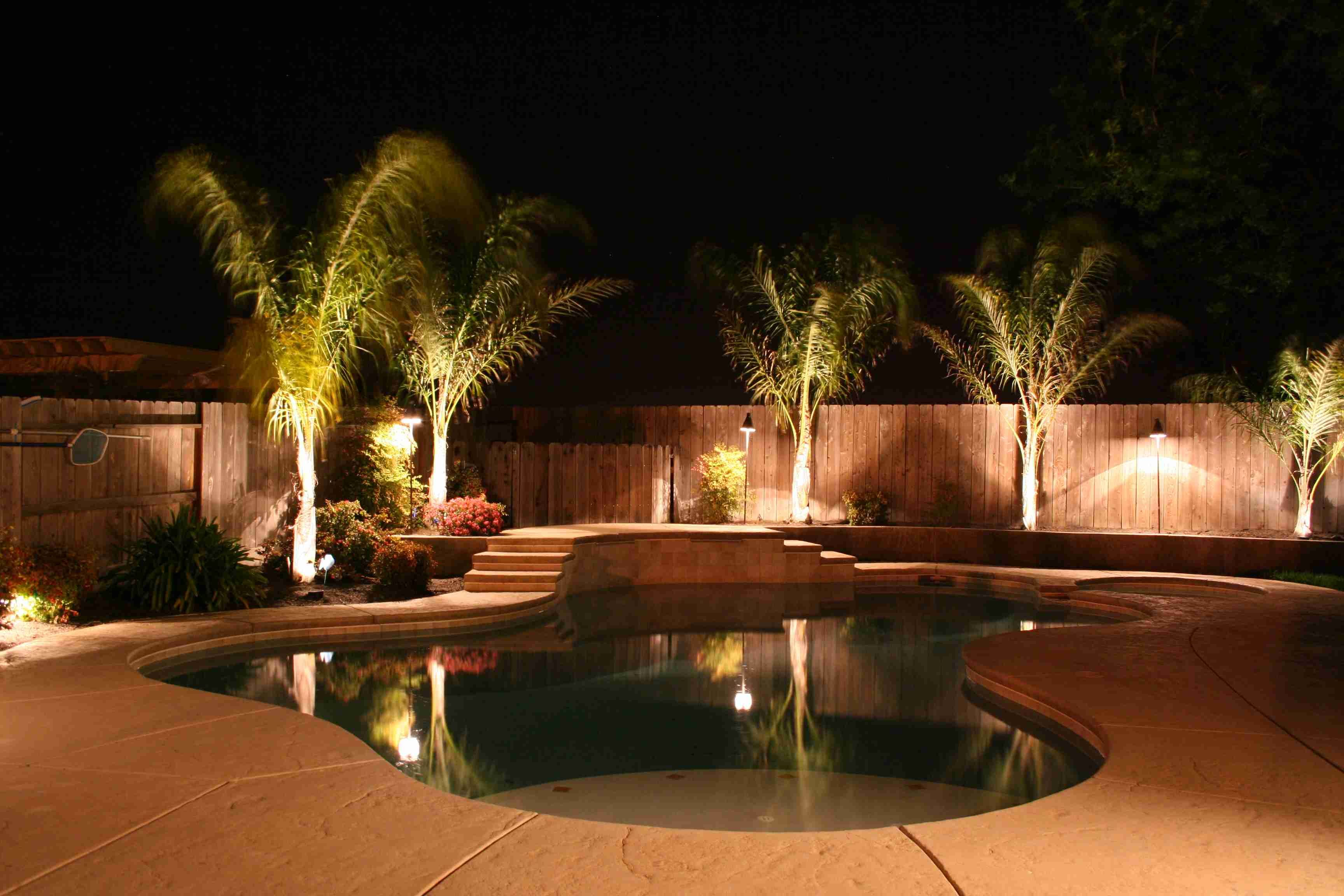 Chic Outdoor Lighting Pool Area Safe Feature Light Out