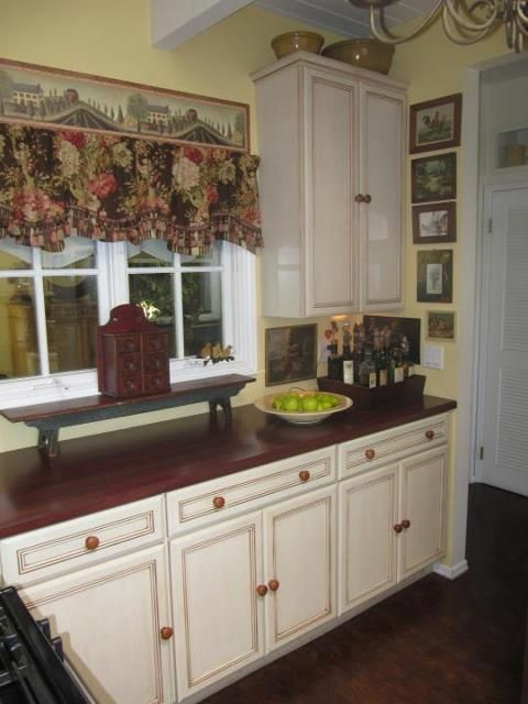 Kitchen Tune-Up Ventura Cabinet Refacing...A glazed bisque ...