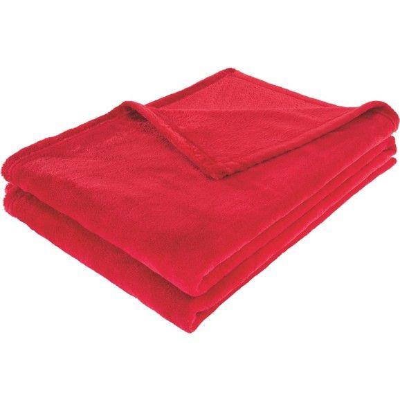 Flauschig weiche Kuscheldecke in Rot - für gemütliche Stunden