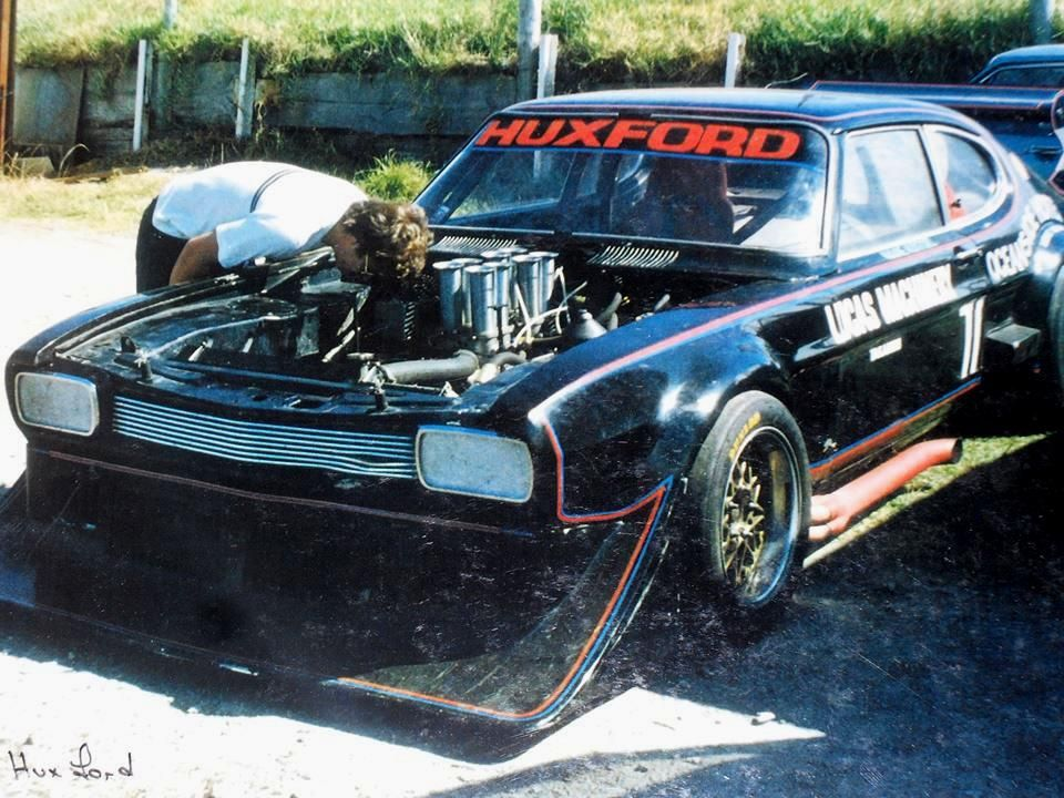 Ford Capri V8 Sports Sedan Racer Wayne Huxford Nz 1980 S Sports Sedan Weird Cars Ford Capri