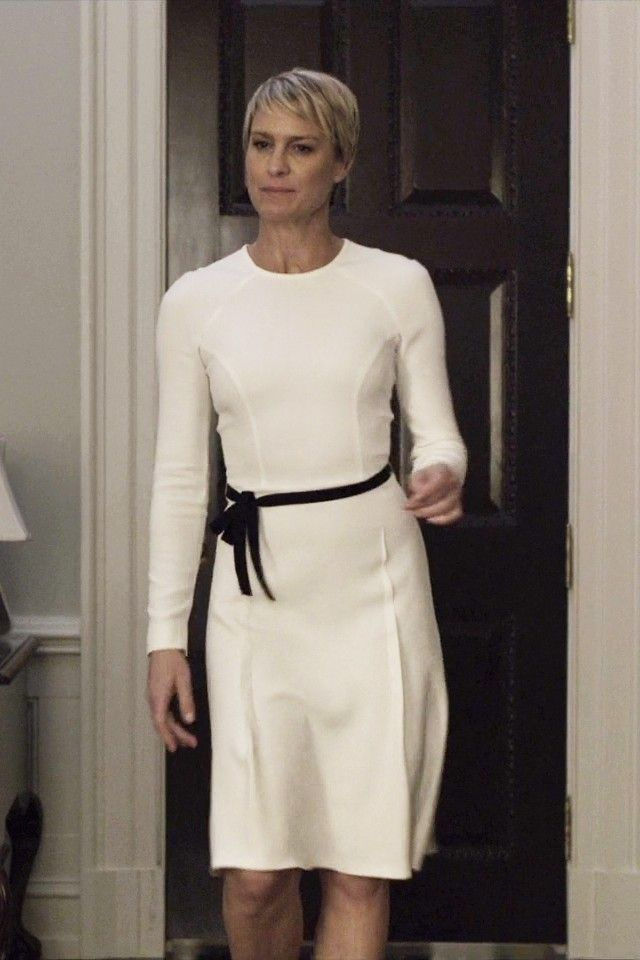 Her wardrobe is to die for on House of Cards. She is stunning