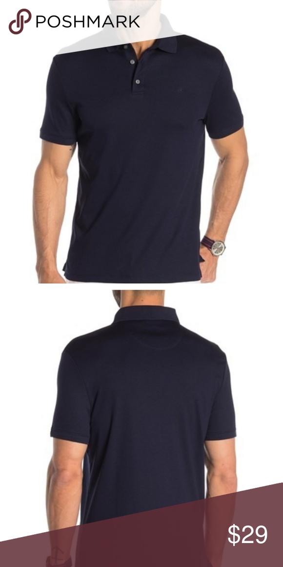 Polos Under Armour Mens X Large Xl Polo Blue 100% Polyester Short Sleeve