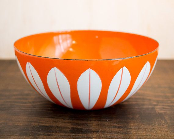 8 Cathrineholm Norway Orange & White by WillowSophiaAntiques