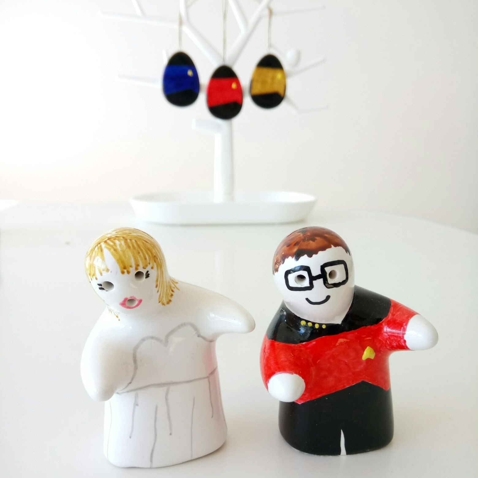 New listing Star Trek and bride hugging cake toppers salt and