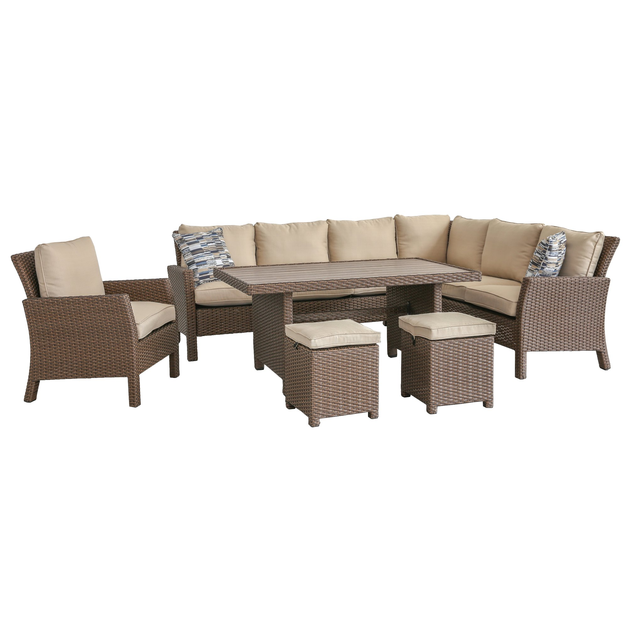 6 Piece Outdoor Patio Furniture Set Arcadia Furniture Patio