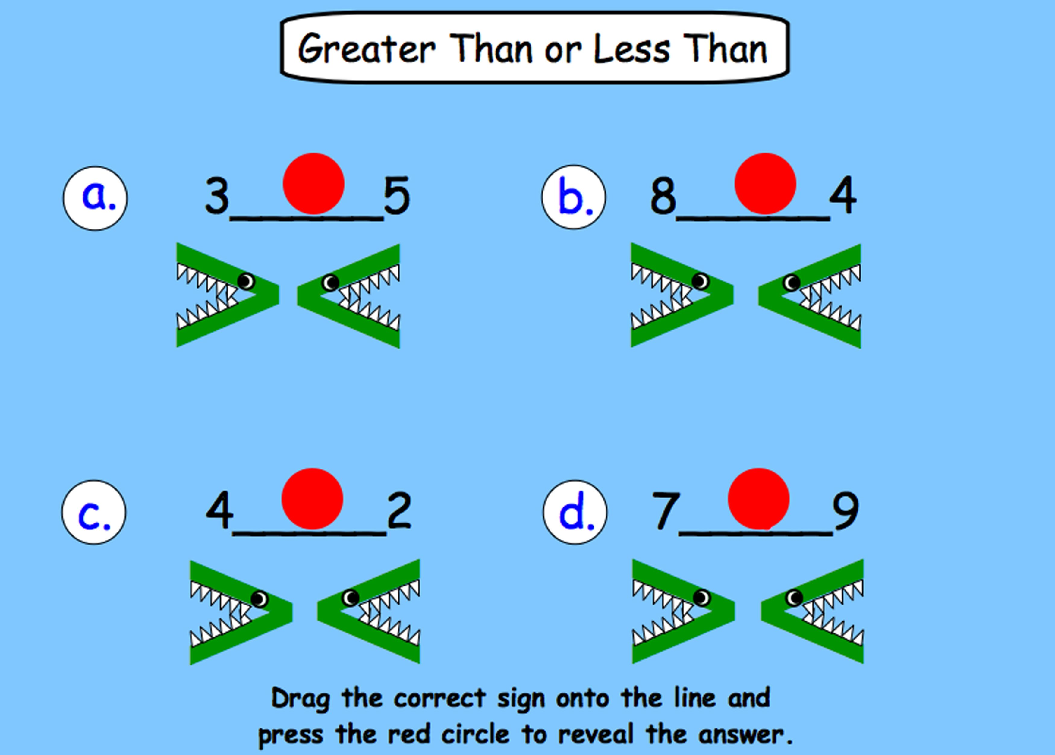 Greater Than, Less Than, Equal Interactive Smartboard Lesson for Gr ...