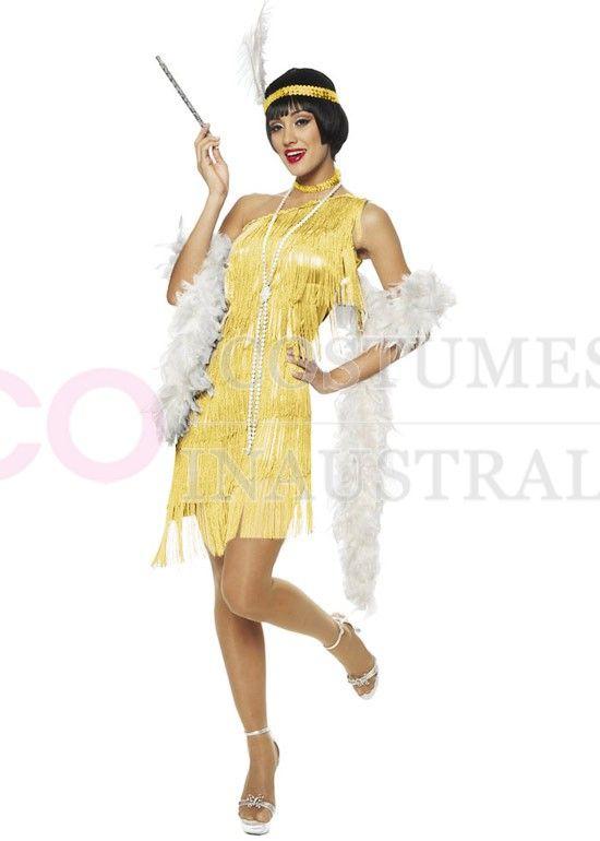 1920s Charleston Yellow Flapper Costume  c163de6040f44