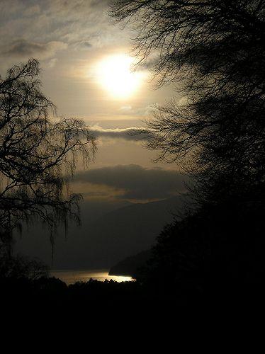 sunset  Loch Tay005 by dottywren, via Flickr