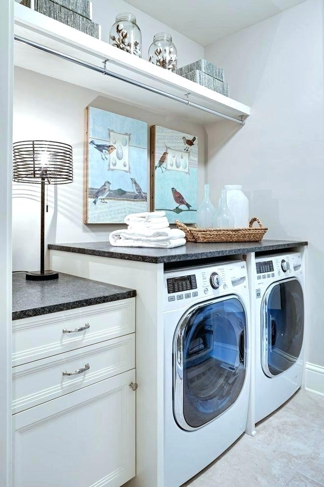 Ideas For Hanging Clothes In Laundry Room Hanging Rod And Shelf