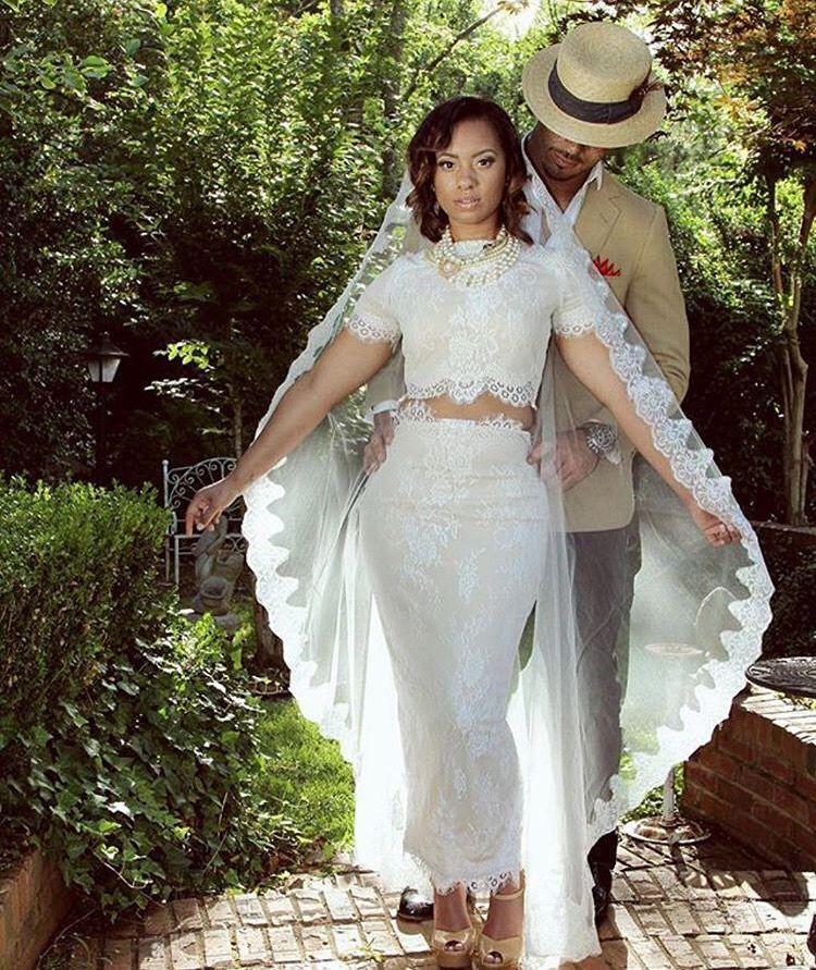 Two piece wedding dress ! So pretty Courthouse wedding