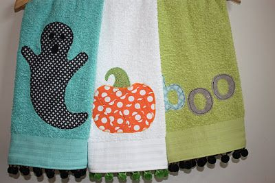 Applique and Trim Added to Towels