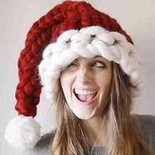=> FREE SHIPPING <= #SantaHat #ChristmasHat #KnittedHat #KnittedChristmasHat
