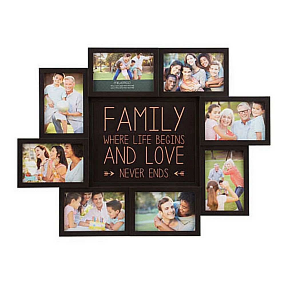 Picture Collage Maker Multiple Frame Frames Family 4x6 Words Holder ...