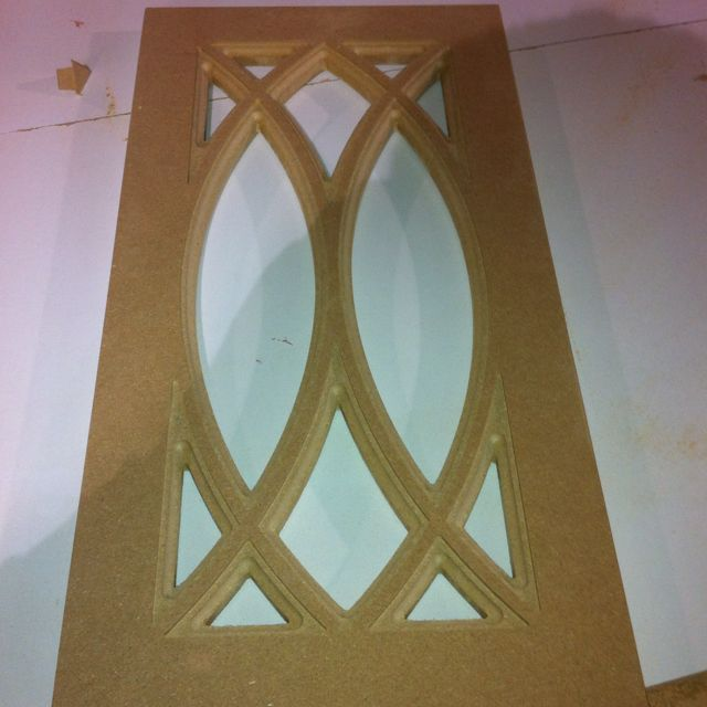 Custom Kitchen Cabinets Doors: Custom Cabinet Door Programmed Parametrically For CNC