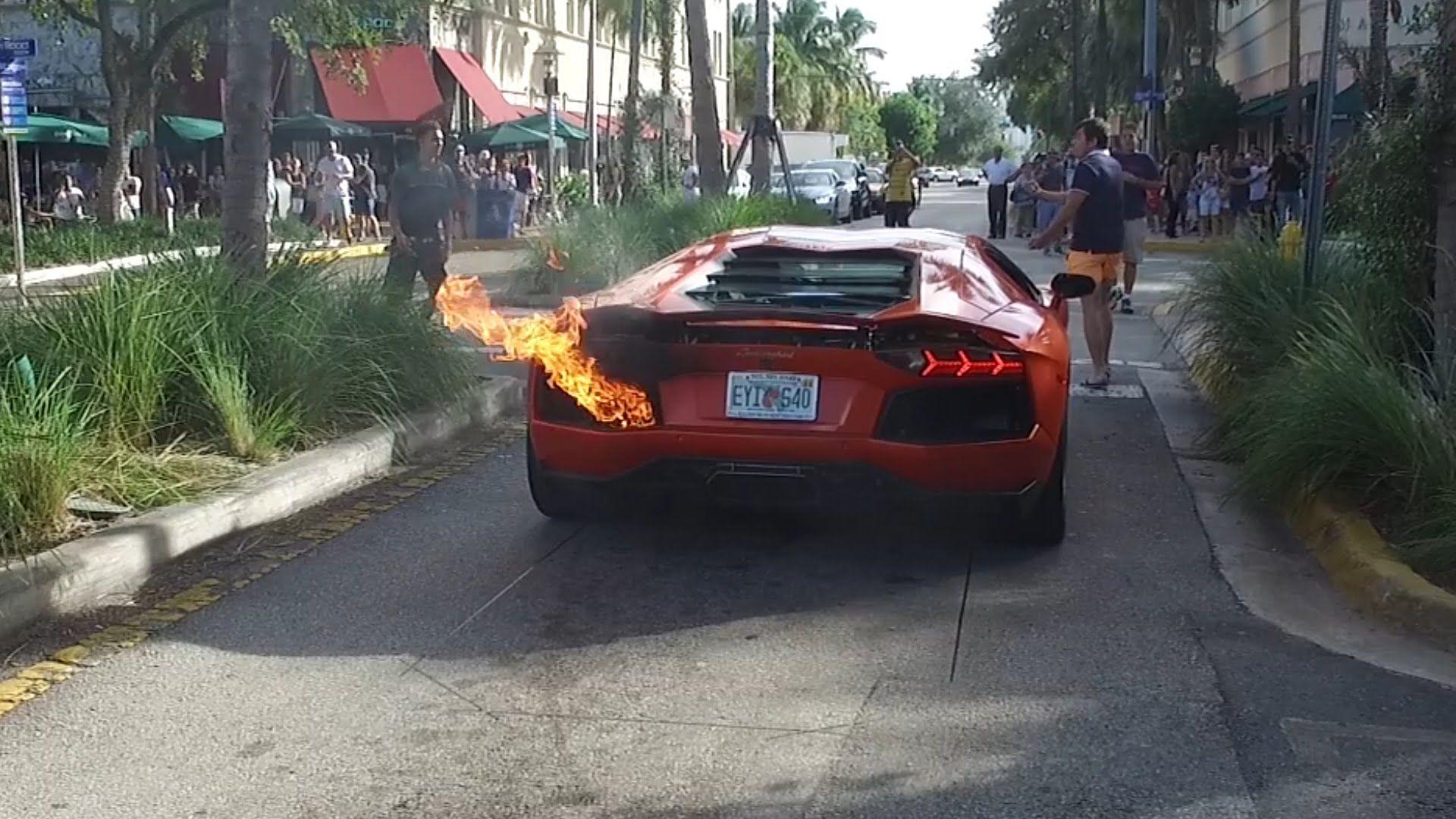 Lamborghini · $400,000 Lamborghini Aventador Set On Fire ...