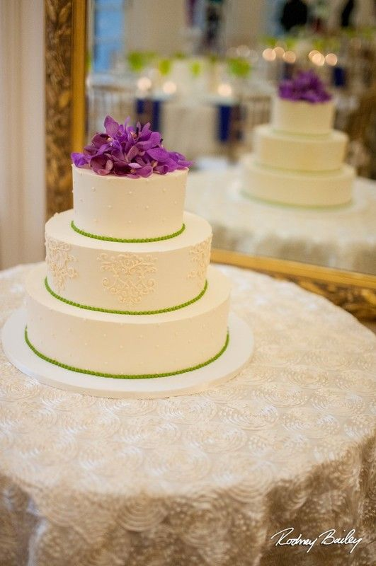 Simple, petite wedding cake idea - short, three-tier wedding cake ...