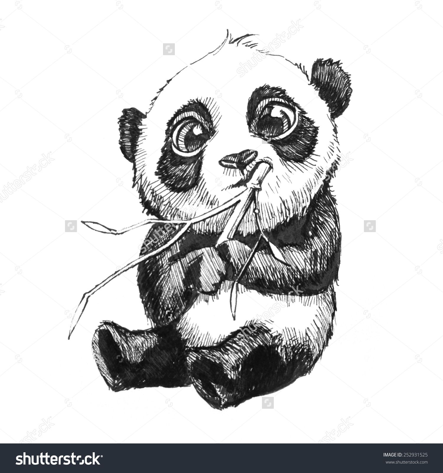 stockphotocuteadorablebabypandabearillustration