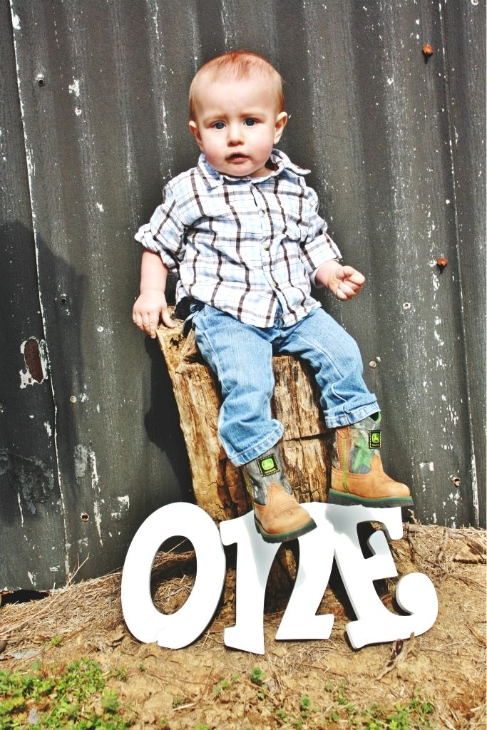country cowboy baby infant toddler photography session first