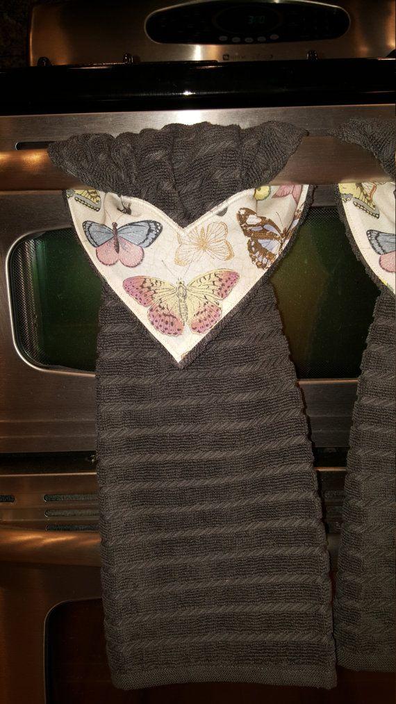 Butterfly Kitchen Towel With StayPut Design By CustomCraftForYou
