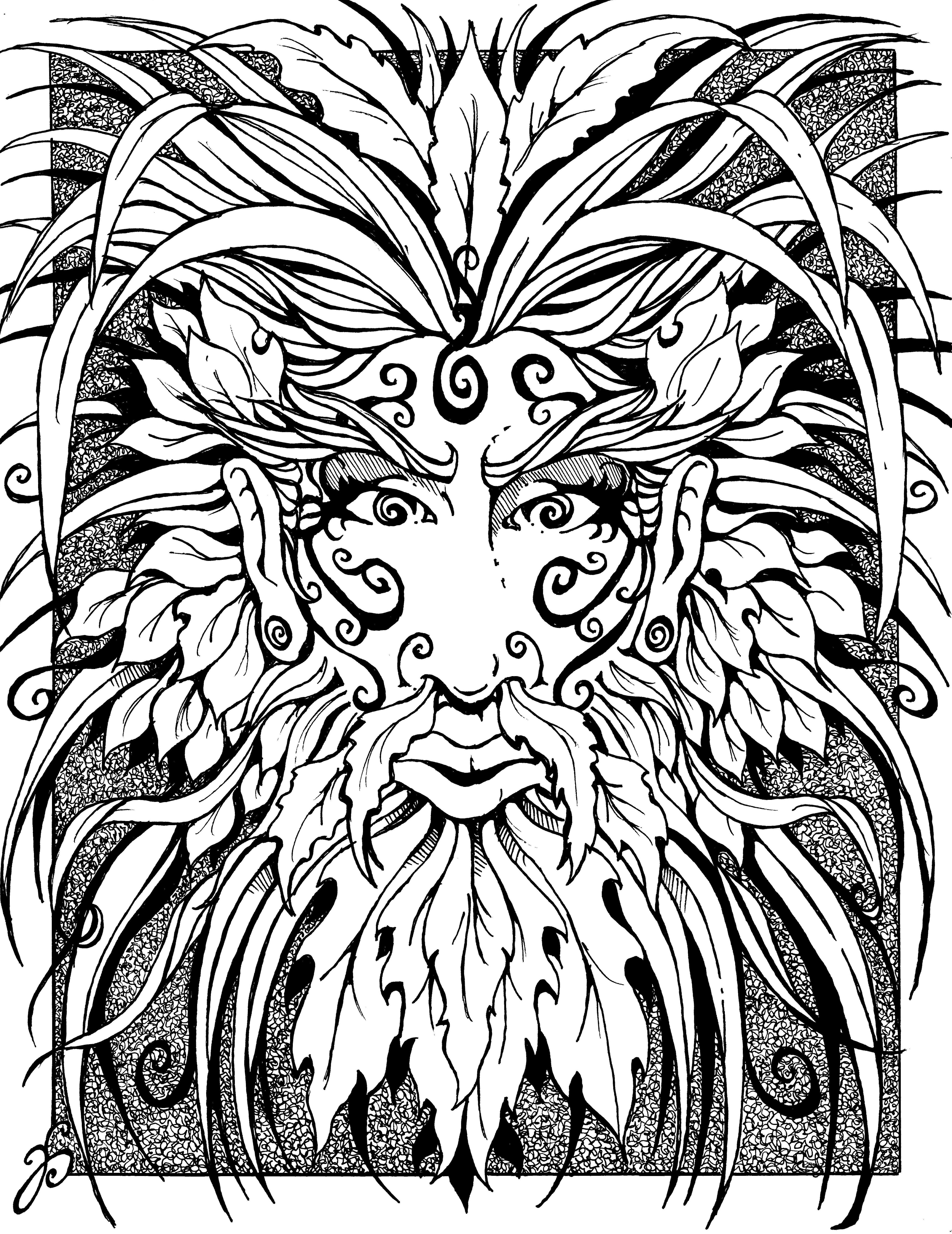 southern green man 8 1 2 x 11 pen and ink on card stock the X-Men Legends 2 southern green man 8 1 2 x 11 pen and ink on card stock