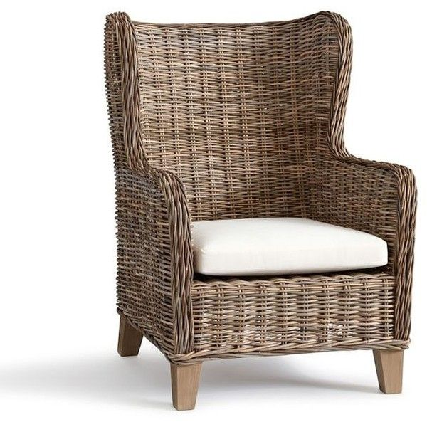 Pottery Barn Santa Ana Wingback Occasional Chair ($599) ❤ Liked On Polyvore  Featuring Home