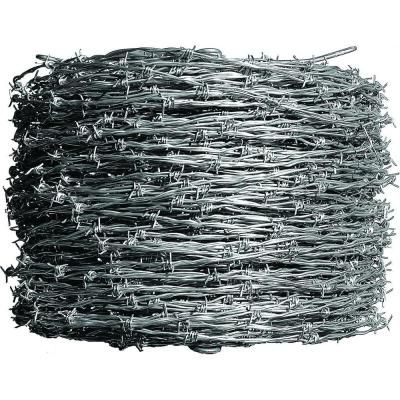 Farmgard 1 320 Ft 12 1 2 Gauge 4 Point Class I Barbed Wire 317831a The Home Depot Wire Fence Barbed Wire Fencing Barbed Wire