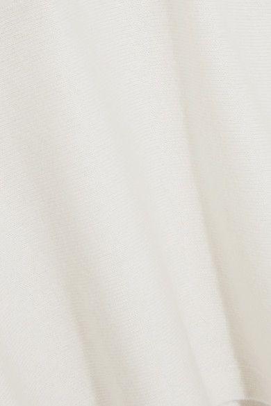 White Bow-detailed cashmere sweater | Fendi