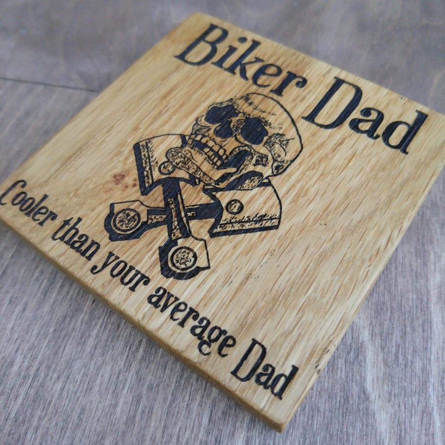 Biker dad coaster in 2020 biker dad biker gifts gifts