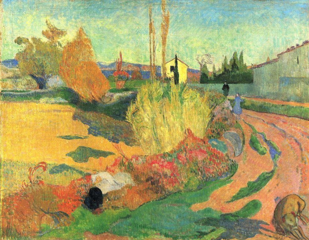 Paul Gauguin: Landschaft mit zwei bretonischen Frauen