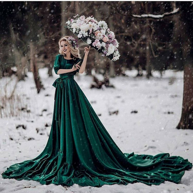 A Dress I Would Choose Green Wedding Dresses Velvet Wedding Dress Backless Bridal Gowns