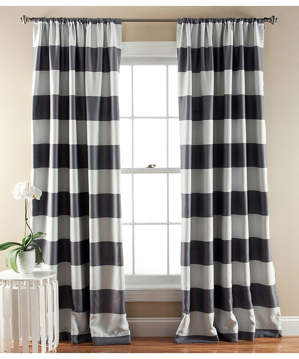 Brown plaid curtain panels - Gray Penelope Blackout Curtain Panel Set Of Two By