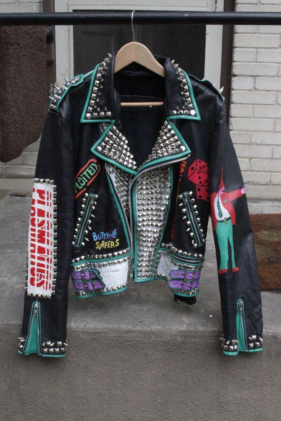 Custom Jacket Studded Punk Jacket Studded Punk Leather