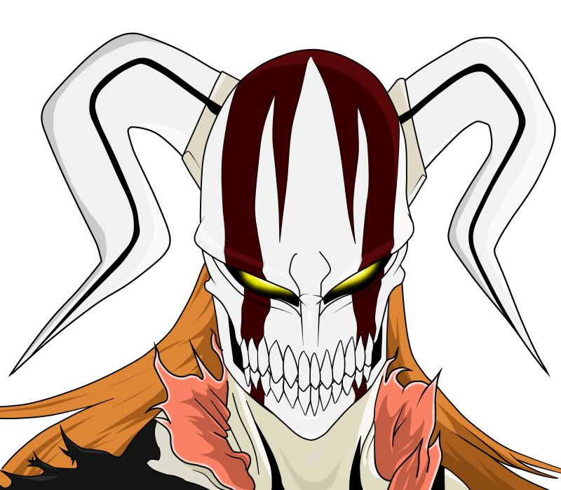 Resultado de imagem para mascara ichigo hollow vasto lorde | ichigo ...