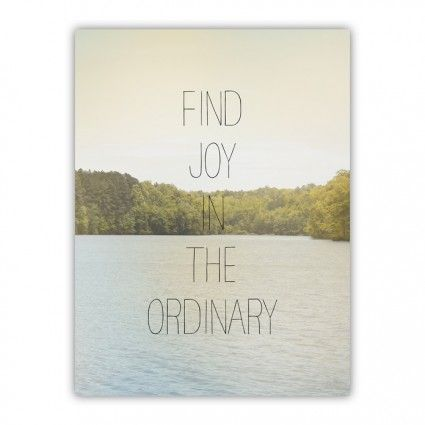FIND JOY IN THE ORDINARY Wood Print - Allyson Johnson - Artists
