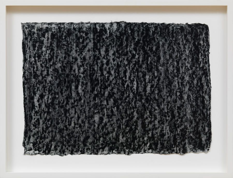 Richard Serra Ramble 1–5, 2015 Litho crayon and pastel powder on paper 13 1/4 × 18 3/4 inches unframed (33.7 × 47.6 cm)
