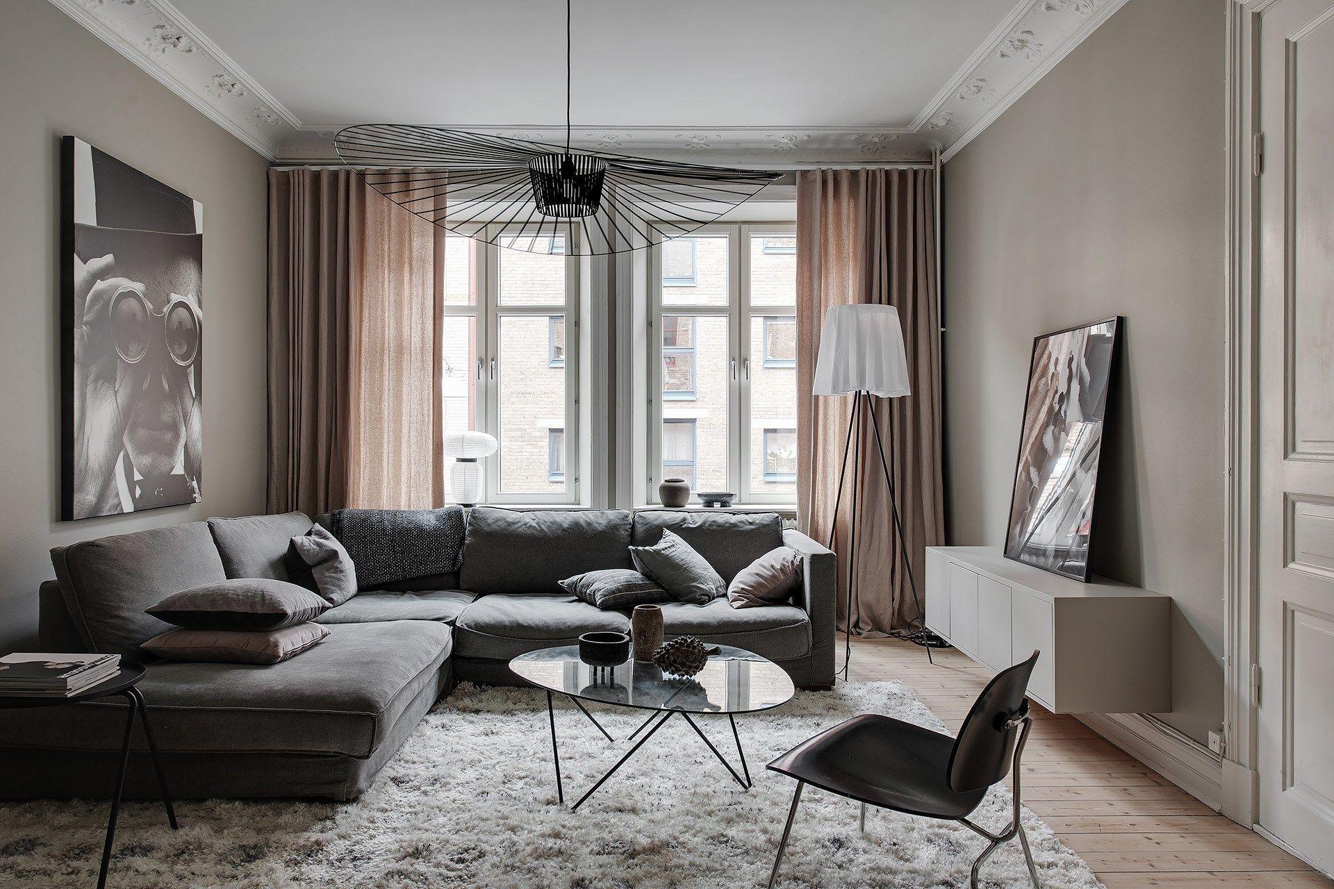 Stylish Home In Beige Vardagsrum Inspiration Hem Vardagsrum
