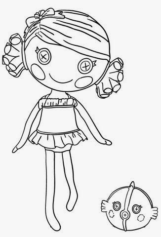 free printable coral sea shells lalaloopsy coloring pages for girls doll - Lalaloopsy Coloring Pages Mittens