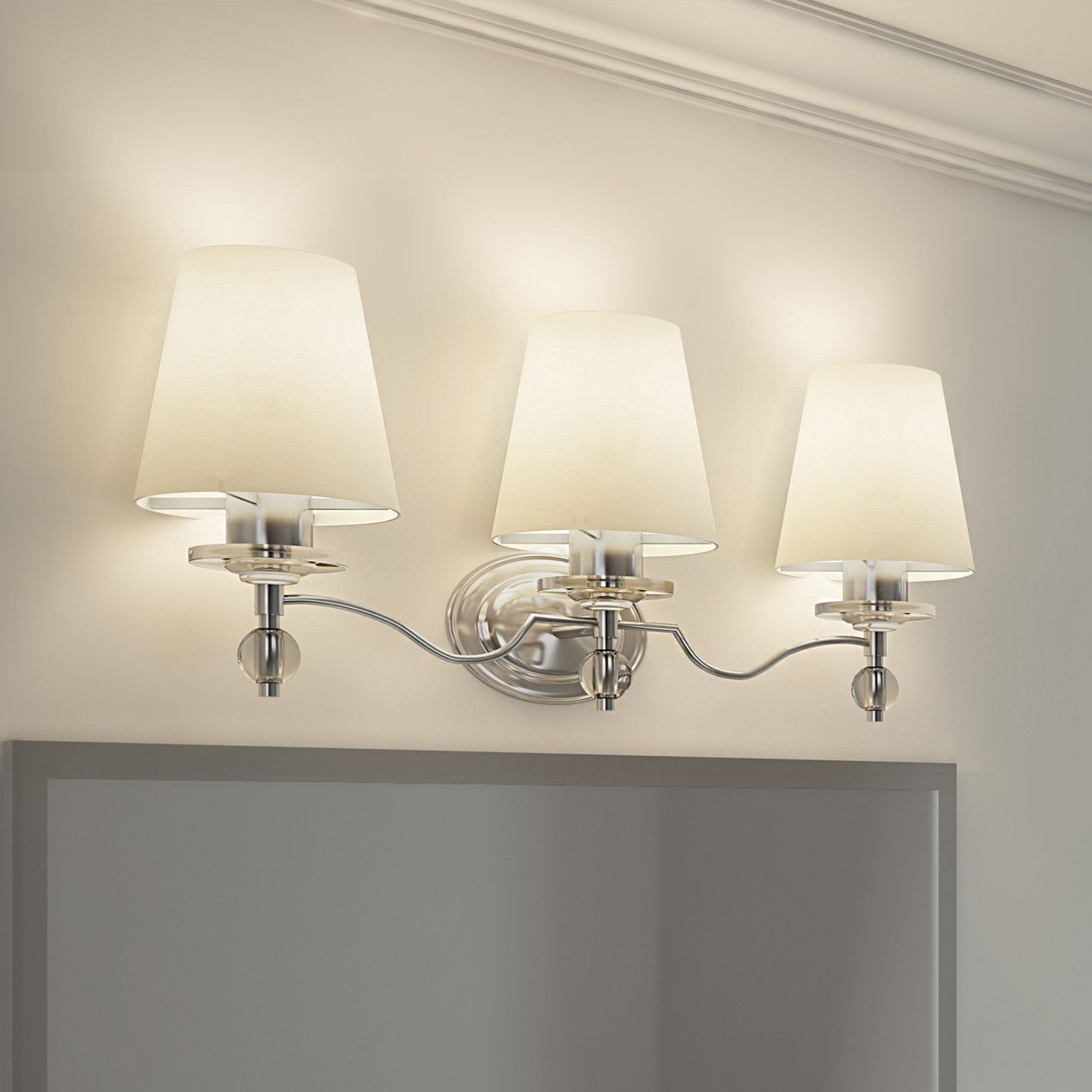 Features Three Light Bath Fixture Number Of Lights 3 White