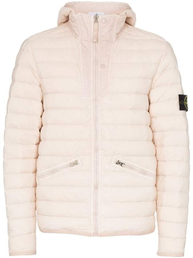 Stone Island hooded feather down padded jacket | Products in