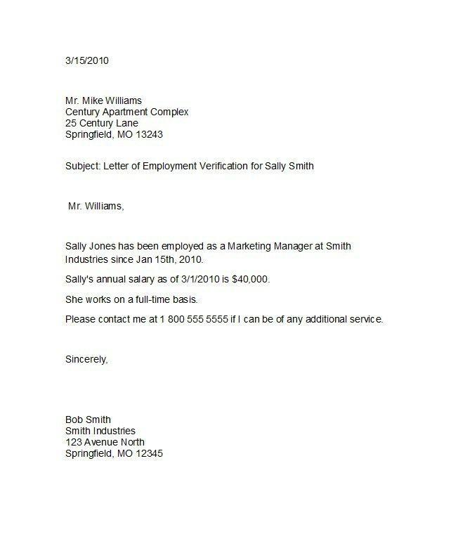 Free Employment (Income) Verification Letter - PDF Word eForms - employment verification form