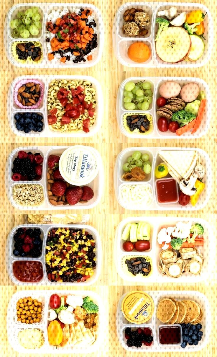 12 Healthy Lunch Box Ideas for Kids or Adults that are simple, wholesome, and meatless - no sandwic