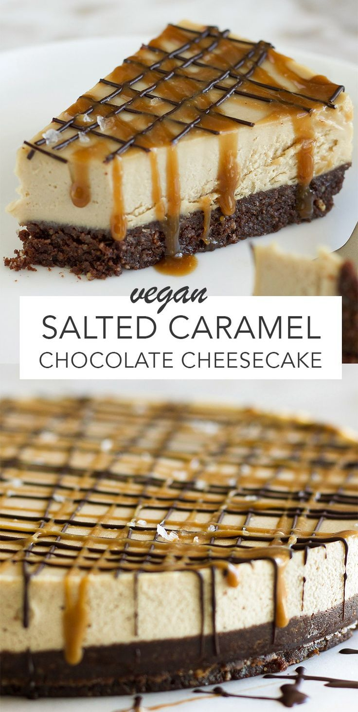 Photo of Vegan Salted Caramel Chocolate Cheesecake – Amy Le Creations