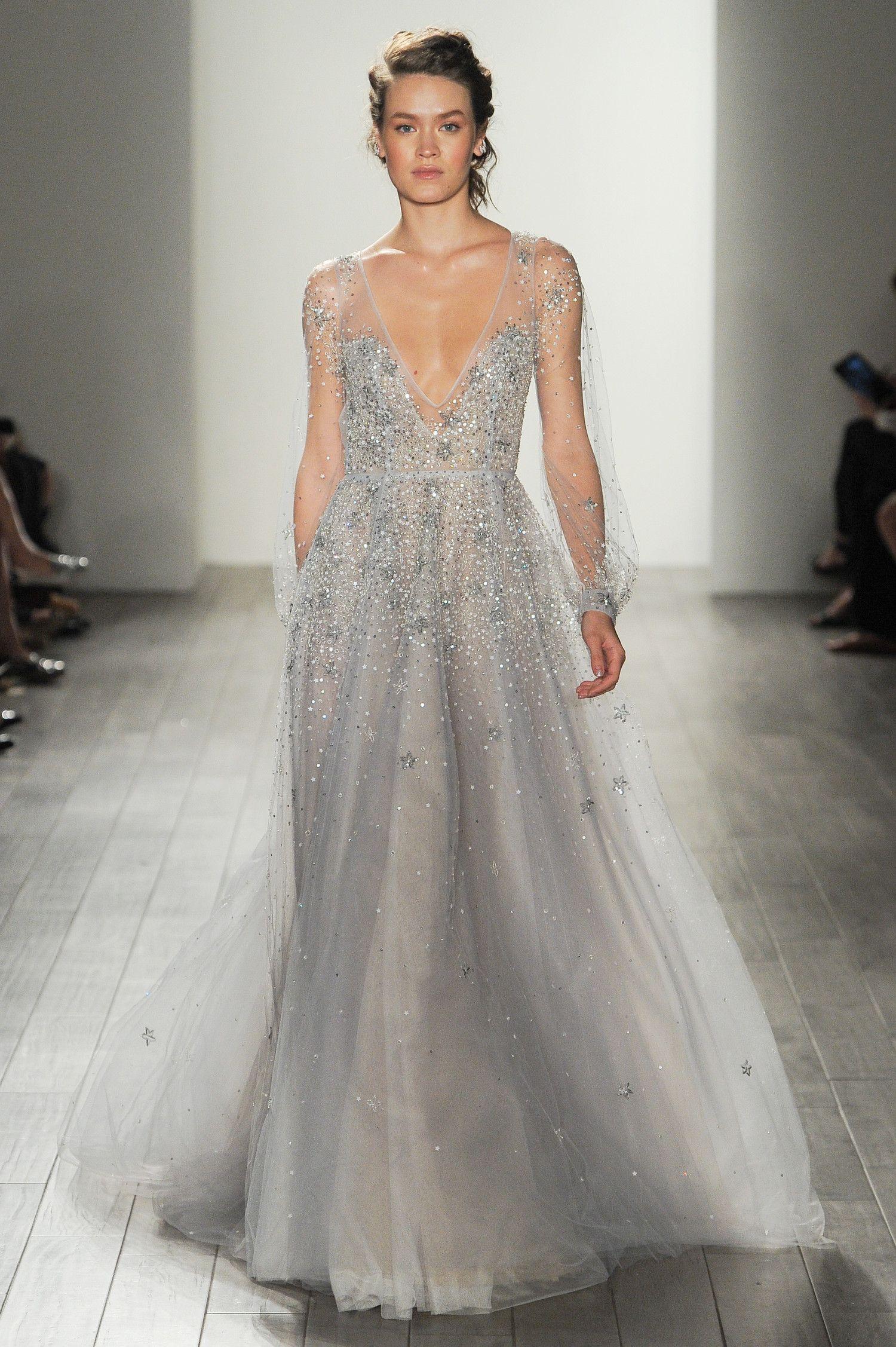 Hayley paige fall wedding pinterest colored wedding dress