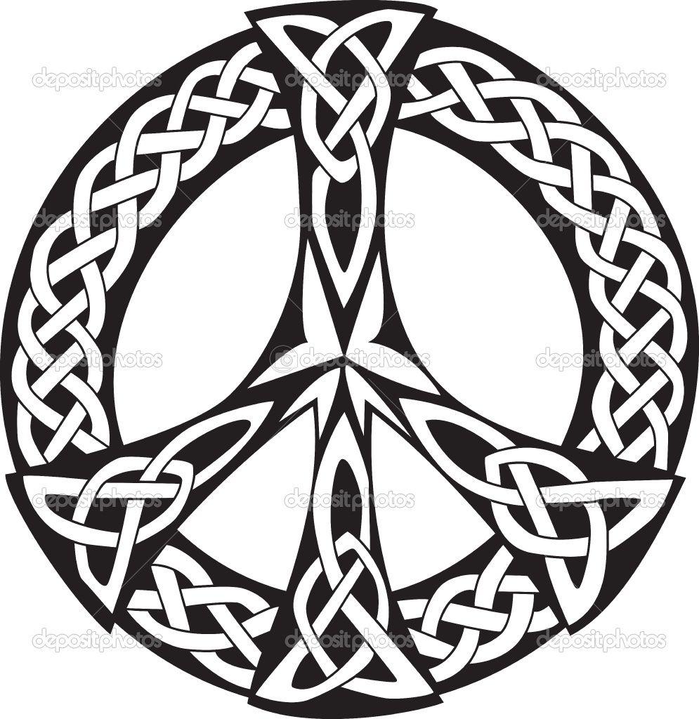 Celtic design peace symbol stock vector patrick gunette celtic peace symbol design next tattoo biocorpaavc Choice Image