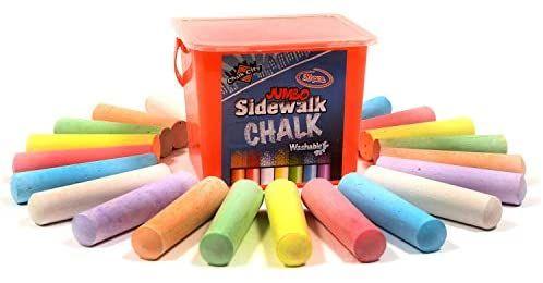 amazon com chalk city sidewalk chalk 20 count 7