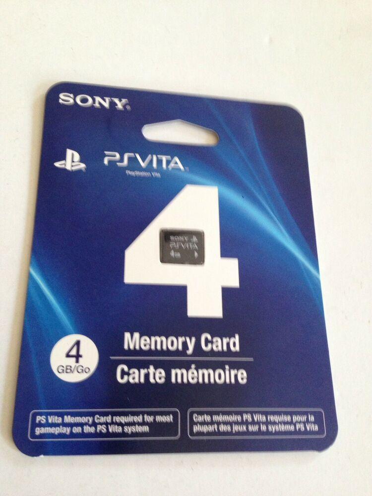 Official PlayStation PS Vita 4GB Memory Card FREE SHIPPING