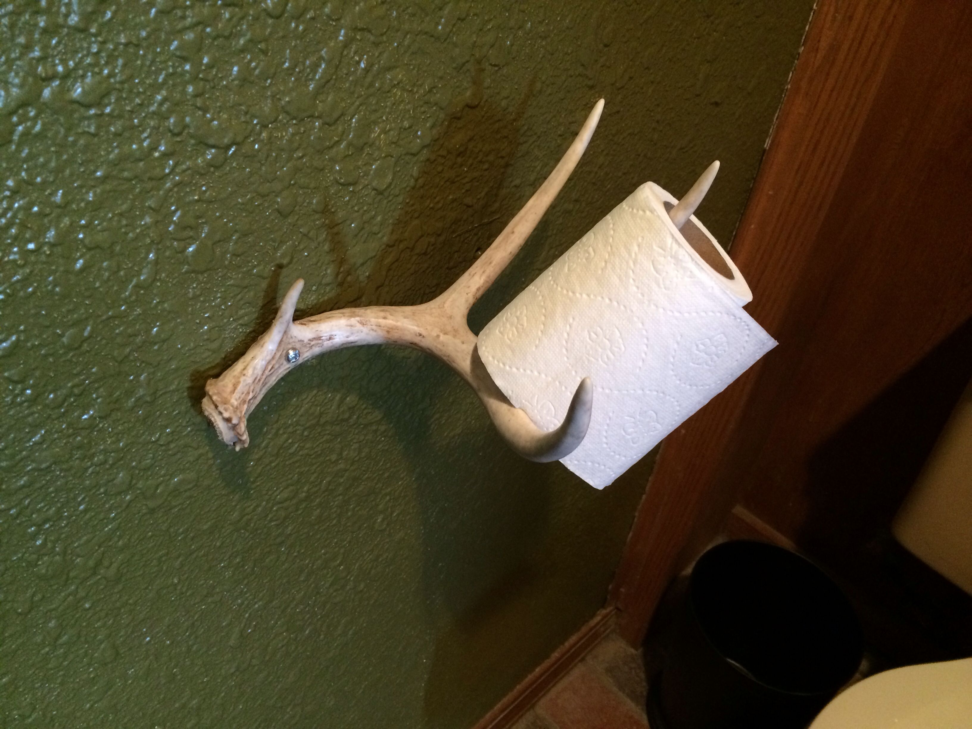 Deer Antler Toilet Paper Holder - Shed, Sheds, Antlers