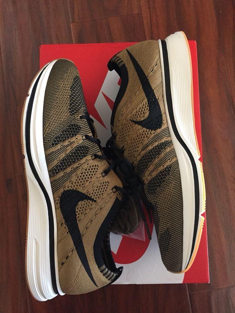 e52d8925517db Mens Nike Flyknit Trainer Golden Beige Black-Black AH8396-203 Size 9.5   fashion  clothing  shoes  accessories  mensshoes  athleticshoes (ebay link)